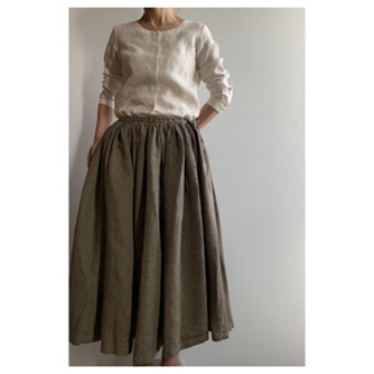 R&D.M.Co- shark skin linen skirt