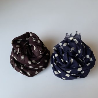 R&D.M.Co- artichoke cotton gauze shawl(3 color)