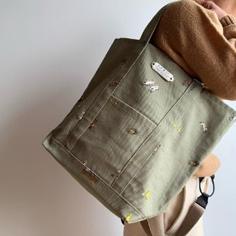 R&D.M.Co-  farmers family tote bag(tall)