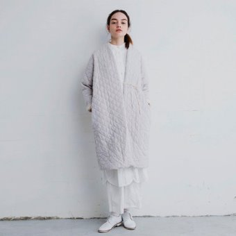 Gauze french linen quilting coat