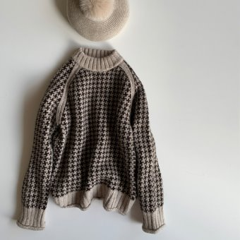 R&D.M.Co-  hand knit baby alpaca sweather(30%)