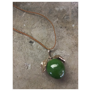 hand made necklace Apple(green)