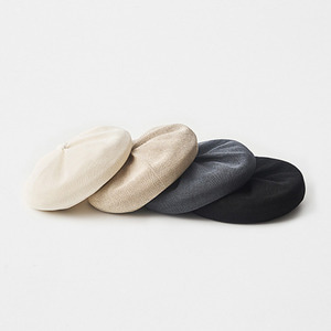 mature ha. beret top gather big silk(4 color)