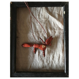 hand made necklace fox