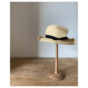 mature ha. boxd hat 7cm brim herringbone ribbon