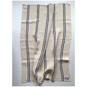 R&D.M.Co- freddy linen cloth blue line(119 X 139cm)