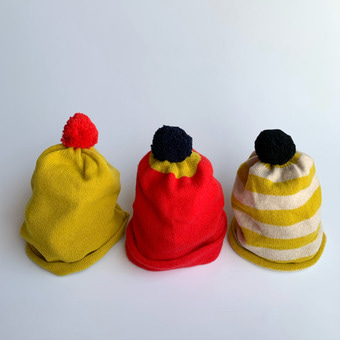 Pompom hat(3 color)