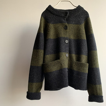 jo gordon wool stripe cardigan