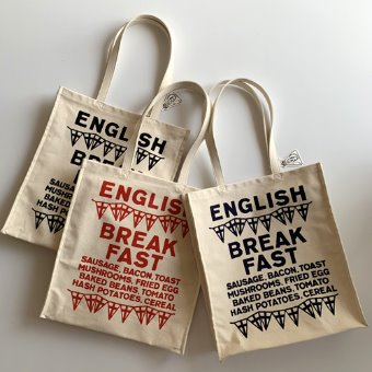 R&D.M.Co-  ENGLISH BREAK FASK TOTE BAG(3 color)
