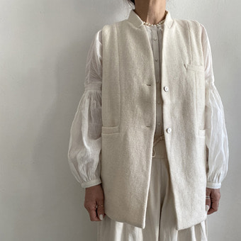 khadi and co wool vest