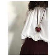 hand made necklace Apple(bordeaux) 재입고
