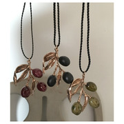 hand made necklace olives(3 color)