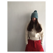 Plain Pompom Hat(jungle)