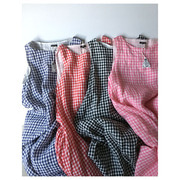 R&D.M.Co- linen densely gingham check dress