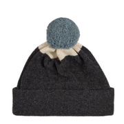 Top Spot Hat Plain Pompom(charcoal&oatmeal)