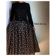 R&D.M.Co- artichoke gather skirt(블랙)