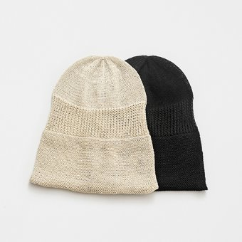 mature ha. rolled edge knit cap linen(2color)