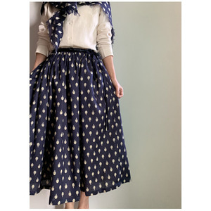 R&D.M.Co- artichoke gather skirt(네이비)