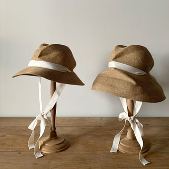 mature ha. boxd hat brim garden ribbon(7cm, 11cm)natural 재입고