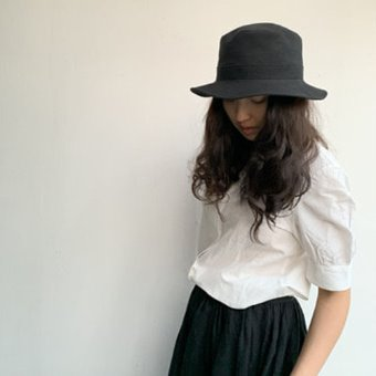 mature ha. linen canvas hat(A)