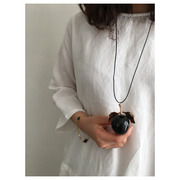 hand made necklace Apple(black) 재입고